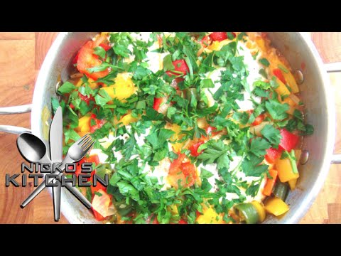 Menemen (Turkish Style Eggs) - Video Recipe