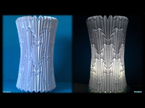 Cylinder Lamp Shade Folded Paper