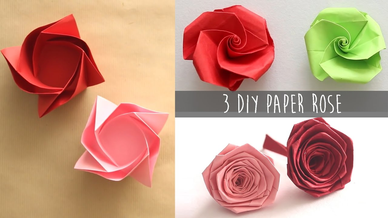 3 easy diy paper rose youtube 3 easy diy paper rose mightylinksfo