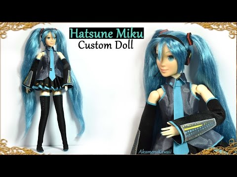 Hatsune Miku Vocaloid inspired Barbie / Doll - Custom Doll Repaint / Makeover