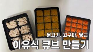 [육아 브이로그] 이유식 큐브 만들기 1탄 / 닭고기,…