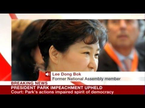 South Korea Highest Court Upholds Impeachment Of President Park!