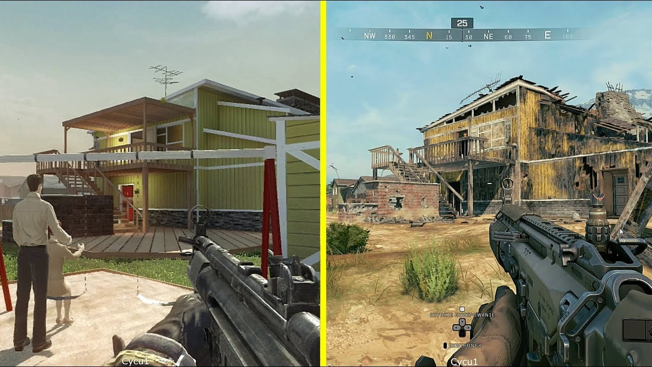Call Of Duty Black Ops 4 Vs Black Ops 1 Nuketown Blackout Map