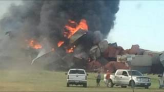 Two Freight Trains Collide Near Panhandle, Texas