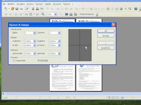 openoffice print multiple pages onto one sheet of paper youtube