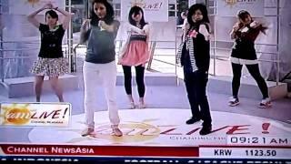 Channel News Asia A.M. Live - Kpop Dance Contest