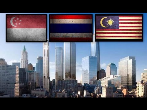 MALAYSIA vs THAILAND vs SINGAPORE Skylines (top 3 economic powers, ASEAN 2017)