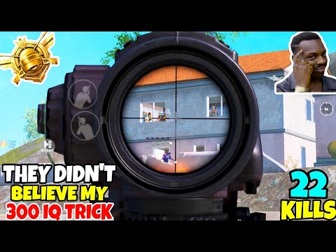 They Didn't Believe In My 300 IQ TRICK And It Was A MISTAKE In PUBG MOBILE •(22 KILLS) • PUBGM HINDI