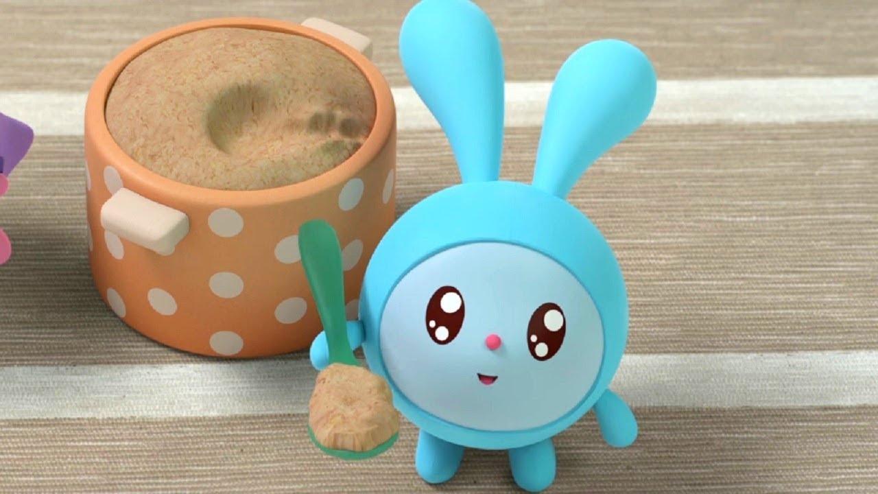 Малышарики - Бодрое утро- серия 123- обучающие мультфильмы для малышей 0-4 - о завтраке