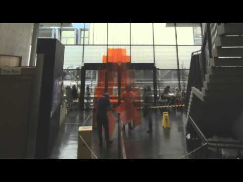 Type Motion: Behind the Scenes, Atrium Installation