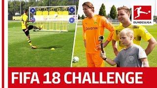 Götze, Philipp & BVB's Little Helper - EA Sports FIFA 18 Bundesliga Free Kick Challenge- Part 2