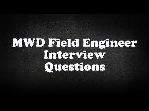 MWD Field Engineer Interview Questions  YouTube