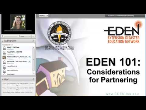 EDEN 101 and Considerations for Partnering: The Current Webinar #22