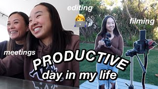 PRODUCTIVE DAY IN MY LIFE | filming, editing, & new semester! Nicole Laeno