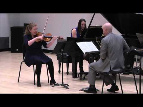 Trio for Viola, Heckelphone (Tenor Saxophone) and Piano, op. 47 by Paul Hindemith
