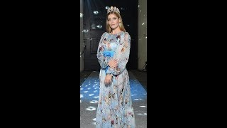 Lady Kitty Spencer wears tiara at Dolce & Gabbana show