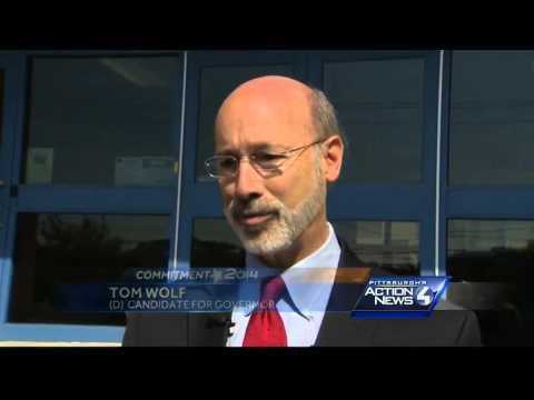 Democratic gubernatorial candidate Tom Wolf visits Canonsburg Middle School