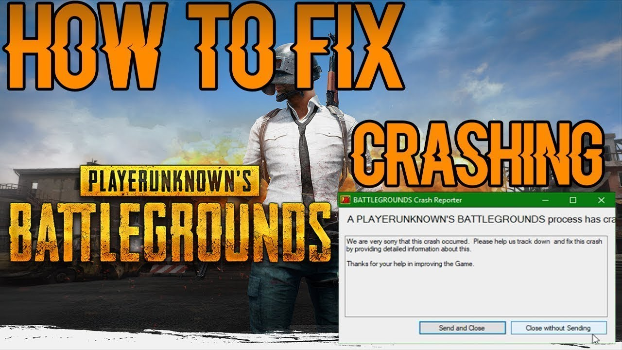 player unknown battlegrounds crashing on startup