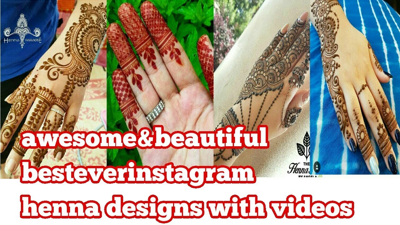 Very Beautiful Instagram Mehndi Designs Videos 2017 Awesome