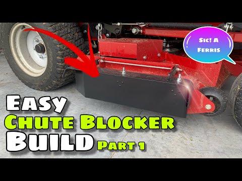 I made a video of how I made a homemade chute blocker for my