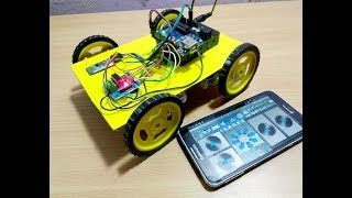 [HINDI][PART-1]How to make Smartphone (Bluetooth) Controlled Car Using Arduino[2018]