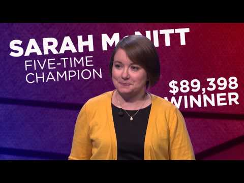 Jeopardy! Tournament of Champions: Sarah McNitt