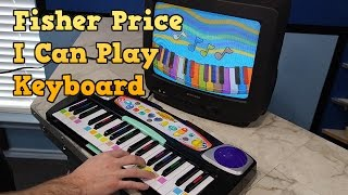 destruction of the fisher price i can play keyboard and review