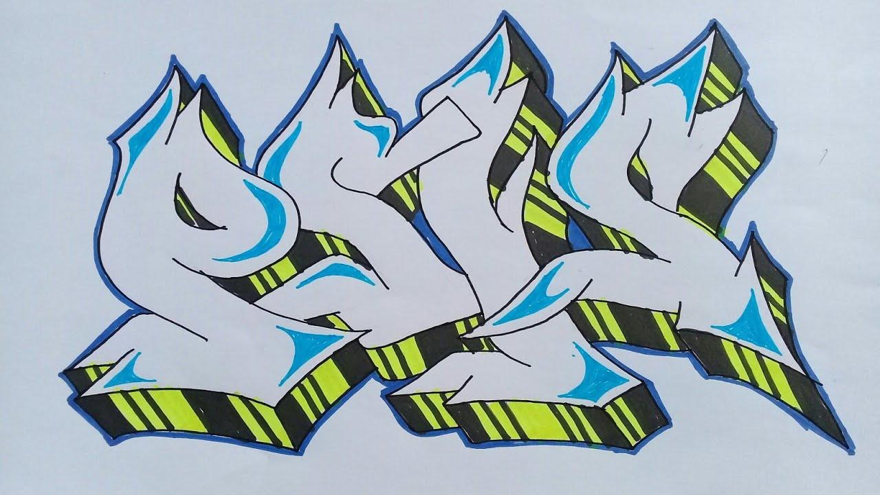 Cara Menggambar Graffiti Psis Semarang Youtube