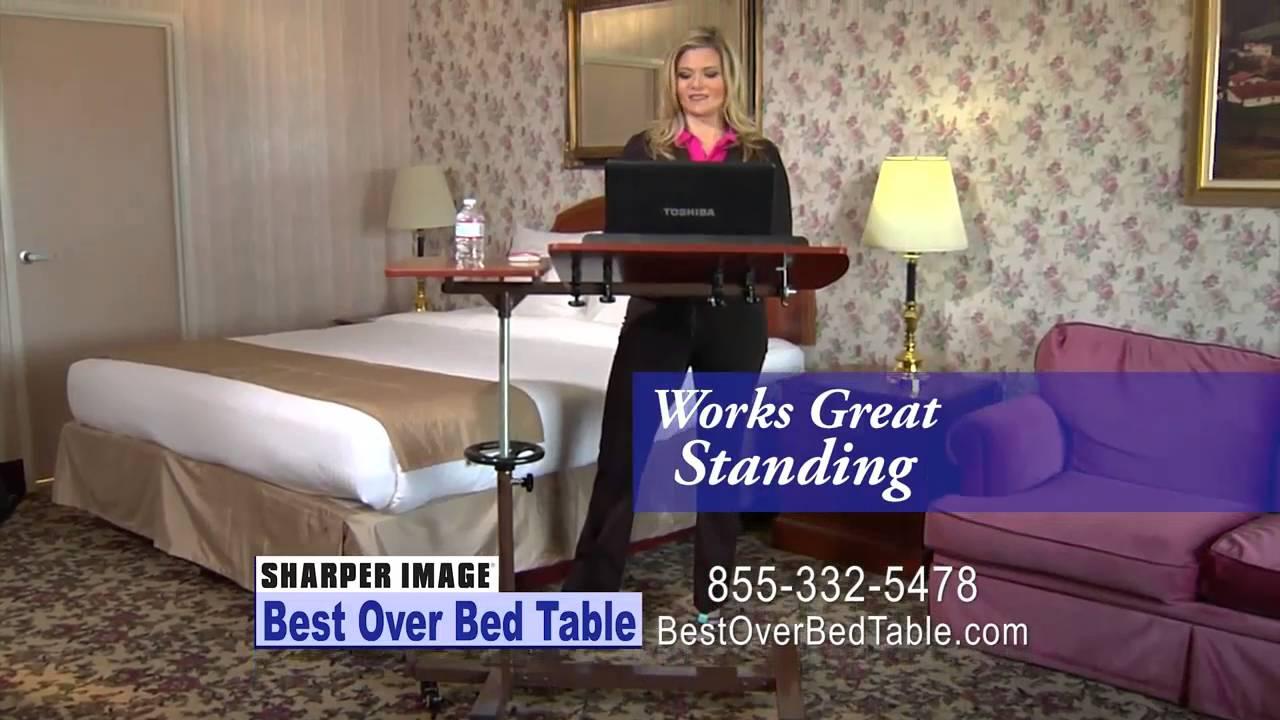SHARPER IMAGE Best Over Bed Table - YouTube