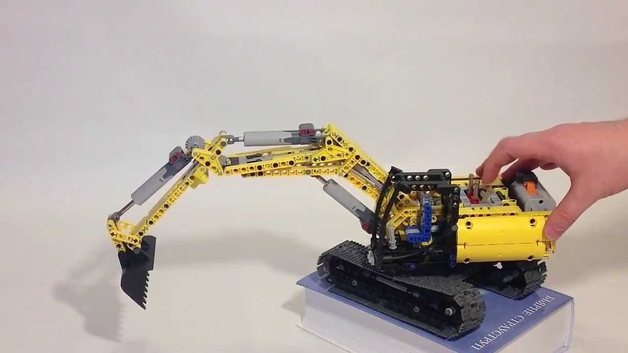 moc lego technic excavator youtube. Black Bedroom Furniture Sets. Home Design Ideas
