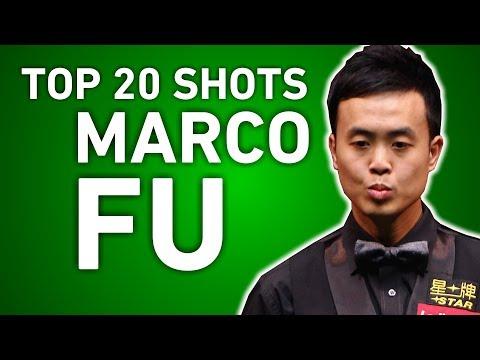 TOP SHOTS!!! TOP 20 GREATEST SHOTS | MARCO FU | World Snooker Championship 2017