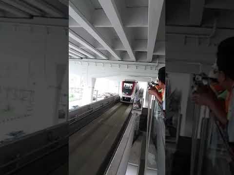 Uji coba kereta Bandara Soekarno Hatta Jakarta (sumber dari broadcast di WhatsApp)