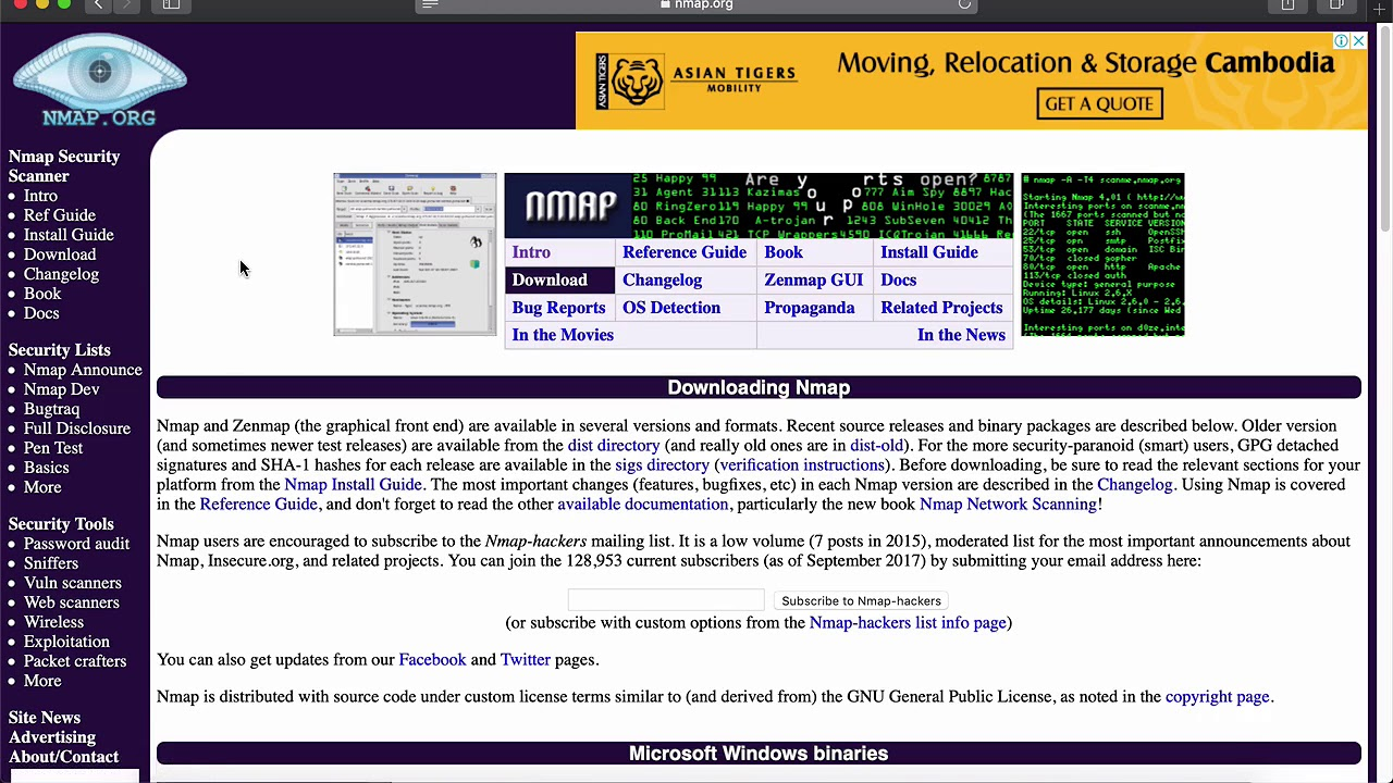 How to install Nmap on Mac OS