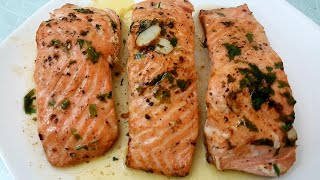 Simple Pan Grilled Salmon