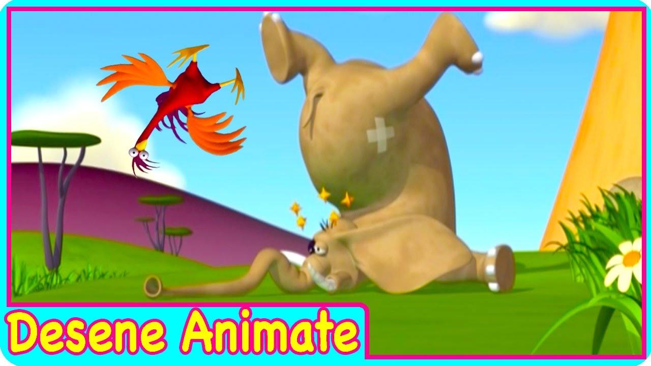 Desene animate pentru copii Gazun elefantul amuzant Elefantul VS Tantar desene in romana episod nou
