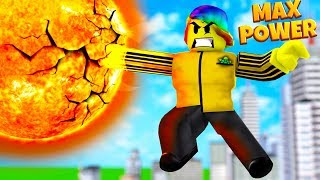 USING MAX POWER TO DESTROY STARS (Roblox Super Power Training Simulator)