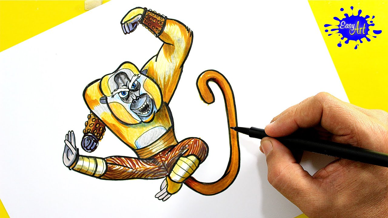 How To Paint Monkey Master (kung Fu Panda 3) / Como Pintar