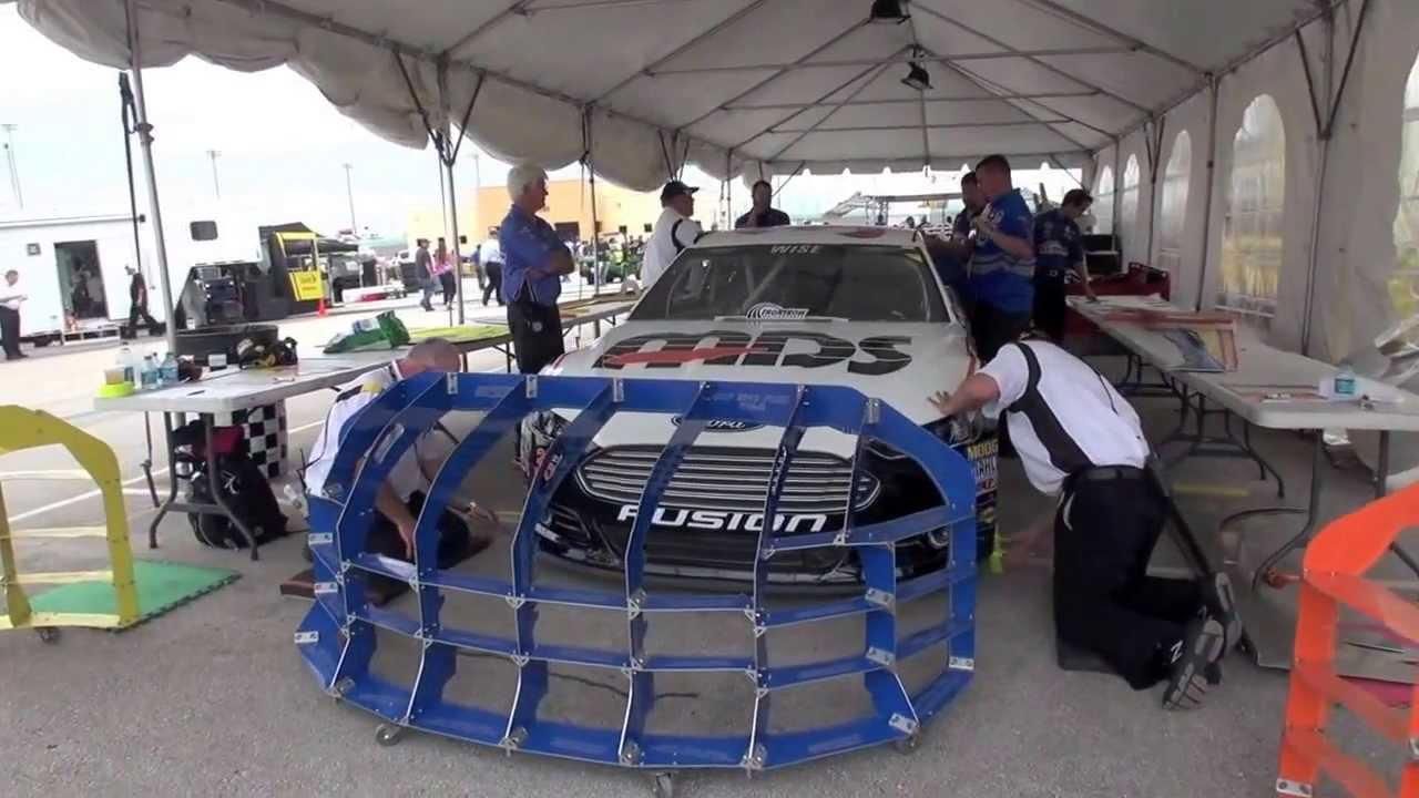 NASCAR Sprint Cup Pre Race Inspection - YouTube
