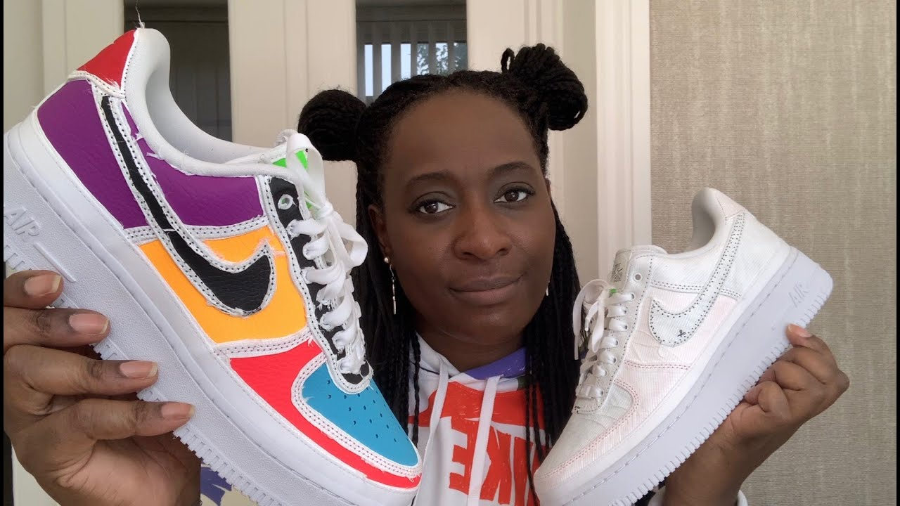 Nike Air Force 1 Low Tear-Away White Multi-colour - YouTube