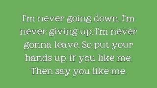 Say You Like Me: We The Kings (Lyrics On Screen)
