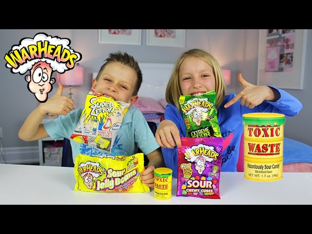 Extreme Sour Candy Review   Warheads Challenge Toxic Waste Super Lemon Japanese Candy
