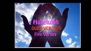 Hallelulajh (Five Verses Duet) - Karaoke Version