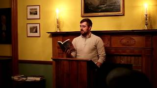 Daniel Perry at Common Readings, 22 Oct. 2018
