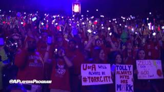 ZonaZoo Cell Phone Light Show During Arizona Intro Video(University of Arizona student section (ZonaZoo) had their cell phones synced to the Arizona Basketball intro video for senior day vs. Stanford. Great interaction ..., 2016-03-07T02:50:17.000Z)
