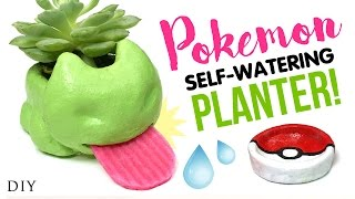 DIY Self-Watering Planter Inspired by POKEMON GO!! Testing DIY Oven-Fired Ceramic Clay