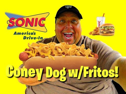 Sonic Drive In® Footlong Quarter Pound Coney with FRITOS!