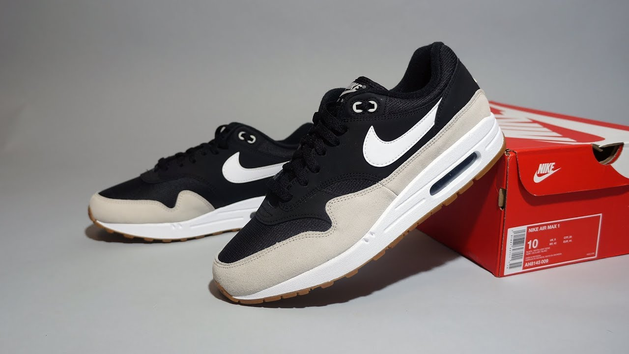 air max 1 beige black