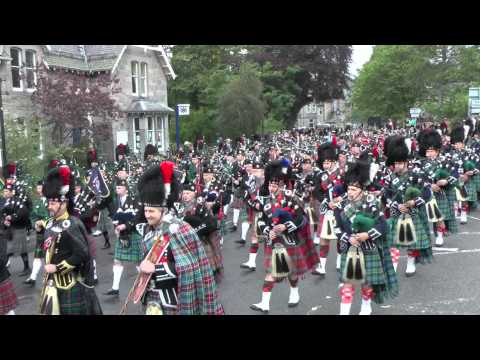 GWC playing in Massed Pipe Bands at Braemar Gathering 2011 (1)