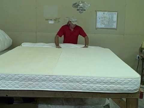 Talalay Latex Matras : Talalay latex mattress demo all natural talalay latex matt youtube