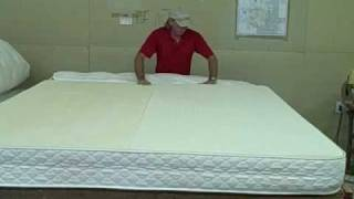 Talalay Latex Mattress Demo, All Natural Talalay Latex Matt